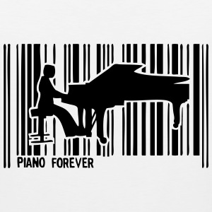 pianist piano bar code 1 T-Shirts - Men's Premium Tank