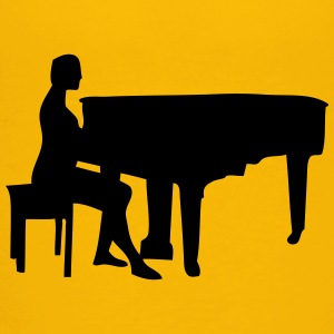 pianist silhouette 1 Kids' Shirts - Toddler Premium T-Shirt