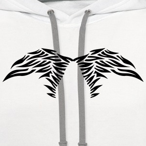 wing winged angel 50269 T-Shirts - Contrast Hoodie