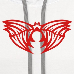 wing winged angel 50261 T-Shirts - Contrast Hoodie