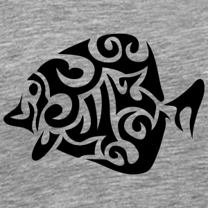 exotic fish tribal 502 Long Sleeve Shirts - Men's Premium T-Shirt