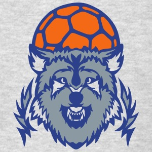 handball club logo wolf cartoon balloon Long Sleeve Shirts - Men's T-Shirt