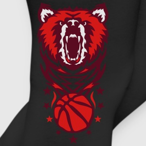 cartoon bear face basketball club logo Kids' Shirts - Leggings