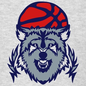 basketball club logo wolf cartoon Long Sleeve Shirts - Men's T-Shirt