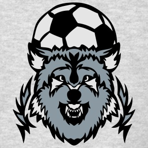 soccer club logo wolf cartoon balloon Long Sleeve Shirts - Men's T-Shirt