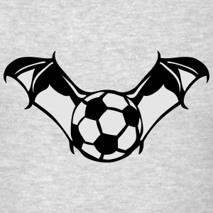 soccer ball bat wing logo Long Sleeve Shirts - Men's T-Shirt