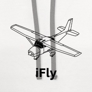 iFly Airplane - Contrast Hoodie