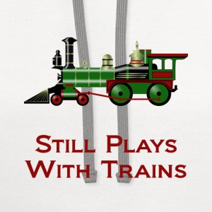 Still Plays With Trains - Contrast Hoodie