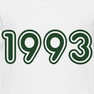 1993, Numbers, Year, Year Of Birth Kids' Shirts - Toddler Premium T-Shirt