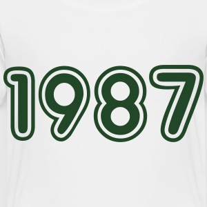 1987, Numbers, Year, Year Of Birth Kids' Shirts - Toddler Premium T-Shirt