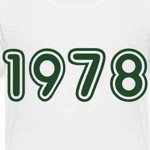 1978, Numbers, Year, Year Of Birth Kids' Shirts - Toddler Premium T-Shirt