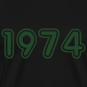 1974, Numbers, Year, Year Of Birth Long Sleeve Shirts - Men's Premium T-Shirt