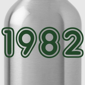 1982, Numbers, Year, Year Of Birth Hoodies - Water Bottle