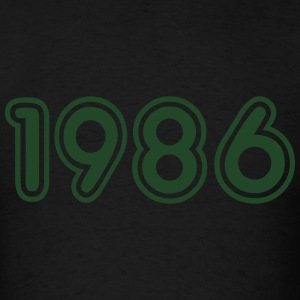 1986, Numbers, Year, Year Of Birth Long Sleeve Shirts - Men's T-Shirt
