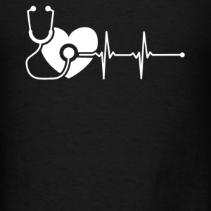 Nurse Heartbeat Shirt - Men's T-Shirt