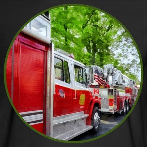 Long Line of Fire Trucks Long Sleeve Shirts - Men's Long Sleeve T-Shirt