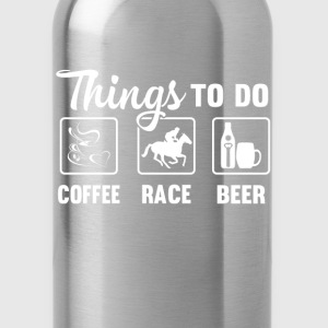 Horse racing - Coffee, race and beer - Water Bottle
