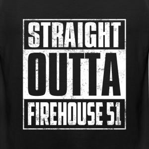 Chicago fire fan - Straight outta firehouse 51 - Men's Premium Tank