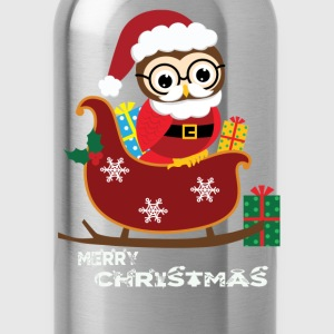 Ugly Christmas gift for owl lover - Water Bottle