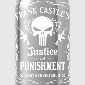Frank castle's - Justice and punishment best serve - Water Bottle