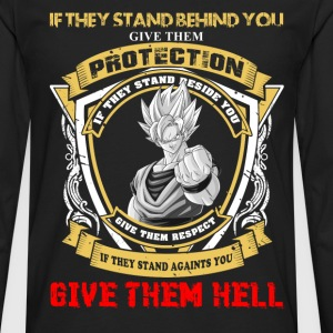 Goku - If they stand against you give them hell - Men's Premium Long Sleeve T-Shirt