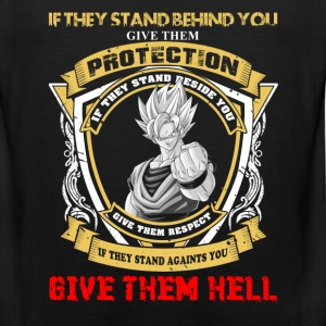 Goku - If they stand against you give them hell - Men's Premium Tank