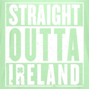 Ireland - Straight outta Ireland awesome t-shirt - Women's Flowy Tank Top by Bella