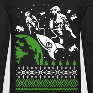 Astronaut - Awesome christmas sweater astronaut - Men's Premium Long Sleeve T-Shirt