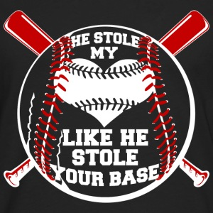 Baseball - He stole my heart like stole your base - Men's Premium Long Sleeve T-Shirt
