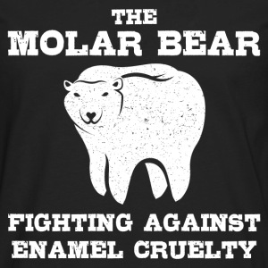 The molar bear fighting against enamel - Men's Premium Long Sleeve T-Shirt