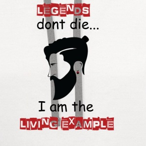 Beard - Legends don't die I'm the example - Contrast Hoodie