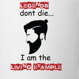 Beard - Legends don't die I'm the example - Coffee/Tea Mug
