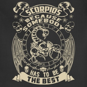 The best are born as Scorpio t-shirt - Adjustable Apron