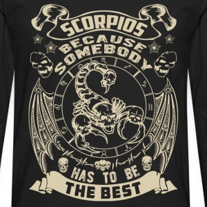 The best are born as Scorpio t-shirt - Men's Premium Long Sleeve T-Shirt
