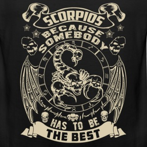 The best are born as Scorpio t-shirt - Men's Premium Tank