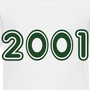 2001, Numbers, Year, Year Of Birth Kids' Shirts - Toddler Premium T-Shirt