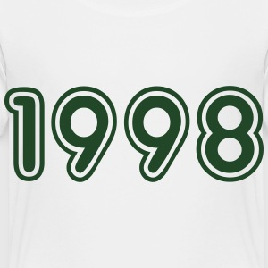 1998, Numbers, Year, Year Of Birth Kids' Shirts - Toddler Premium T-Shirt