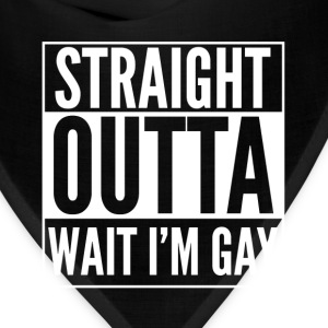 Wait I'm gay ugly t-shirt for gay people - Bandana