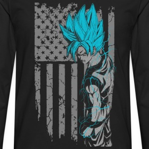 Songoku - Super saiyan god t-shirt for american - Men's Premium Long Sleeve T-Shirt