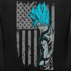 Songoku - Super saiyan god t-shirt for american - Men's Premium Tank