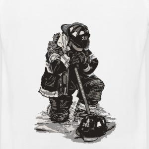 Sad Firefighter t-shirt for supporter - Men's Premium Tank