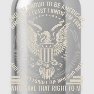 Military - I'm proud to be american awesome t-sh - Water Bottle