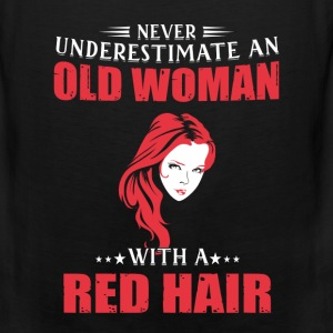 Red hair - Never underestimate an woman with red - Men's Premium Tank