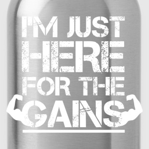 Crossfit - I'm just here for the gains awesome tee - Water Bottle