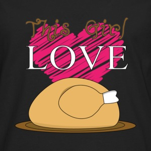 Cooking - This girl love chicken awesome t-shirt - Men's Premium Long Sleeve T-Shirt