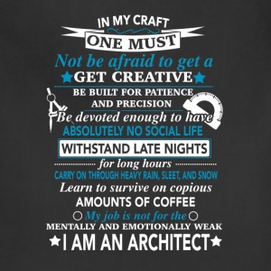 Architect - My job is not for the mentally weak - Adjustable Apron