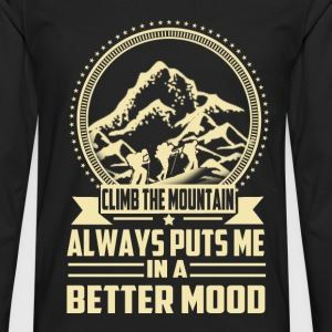 Climbing - Always puts me in a better mood t-shi - Men's Premium Long Sleeve T-Shirt