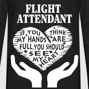 Flight attendant - You should see my heart t-shi - Men's Premium Long Sleeve T-Shirt
