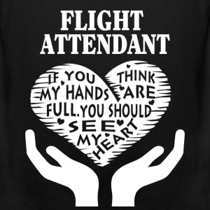 Flight attendant - You should see my heart t-shi - Men's Premium Tank