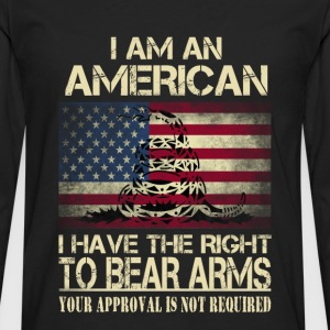 American - I have the right to bear arms t-shirt - Men's Premium Long Sleeve T-Shirt